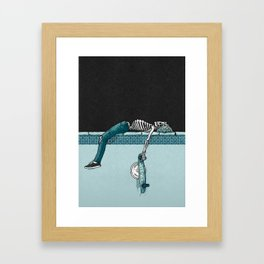 Skate 'til Late Framed Art Print