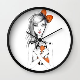 Julien and the Fox Wall Clock