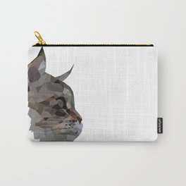 Geometric Cat Digitally Created Carry-All Pouch