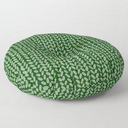 Forest Green Knit Floor Pillow