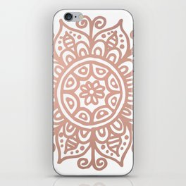 Rose Gold Floral Mandala iPhone Skin