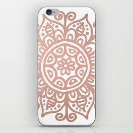 Rose Gold Floral Mandala iPhone Skin