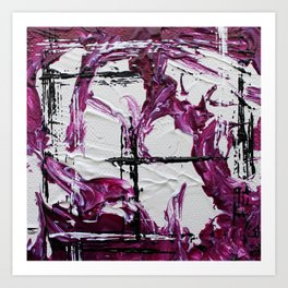 Mini Series [Musical Waves - Rouge Violet] Art Print