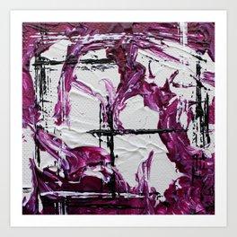 Mini Series [Musical Waves - Rouge Violet] Art Print