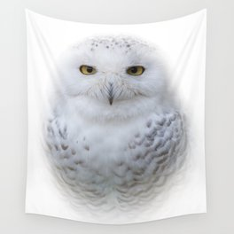 Dreamy Encounter with a Serene Snowy Owl Wall Tapestry