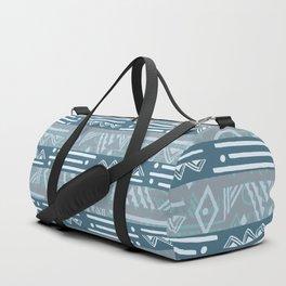 Polynesian Blue Beach Print Duffle Bag