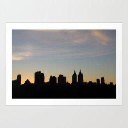 Sunset over the City Art Print