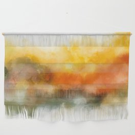 Soft Marigold Pastel Abstract Wall Hanging