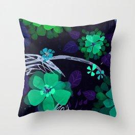 Flora Queen Throw Pillow