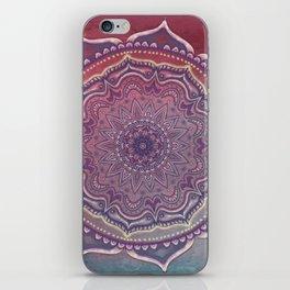 Pink and Blue Mandala iPhone Skin
