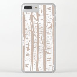 Woodcut Birches Clear iPhone Case