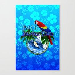 Blue Flowers Island Time Surf Canvas Print
