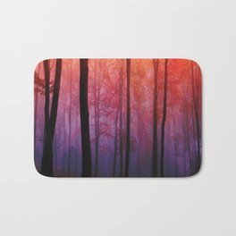 Whispering Woods, Colorful Landscape Art Bath Mat