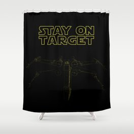 Stay On Target Shower Curtain