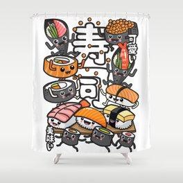Sushi Kawaii Shower Curtain