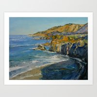 big sur Art Prints featuring Big Sur by Michael Creese