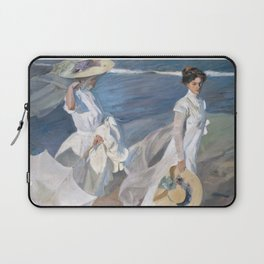 Joaquín Sorolla y Bastida - Strolling along the Seashore Laptop Sleeve