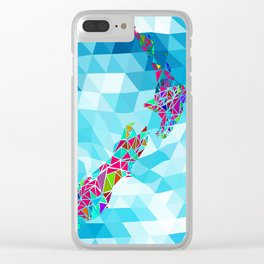 New Zealand Map : Square Clear iPhone Case