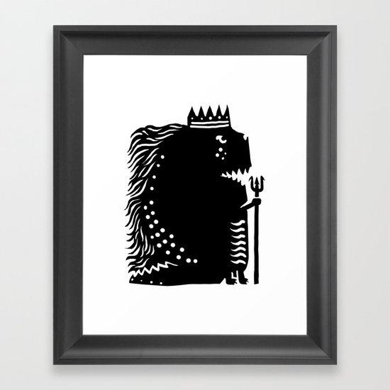 Black king Framed Art Print