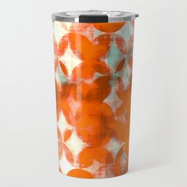 circles, orange art, geometric print, modern painting, mid century art, abstract art Travel Mug