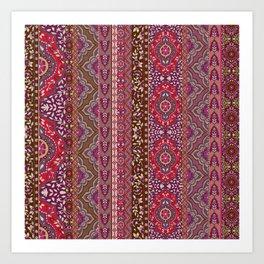 Farah Stripe Red Art Print