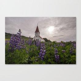 Vík í Mýrdal Church Canvas Print