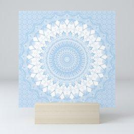 Baby Blue Boho Mandala Mini Art Print