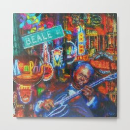 Beale Street Blues Metal Print