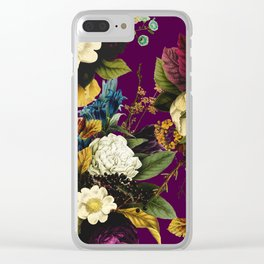 Wildflower Melancholy Maroon Clear iPhone Case