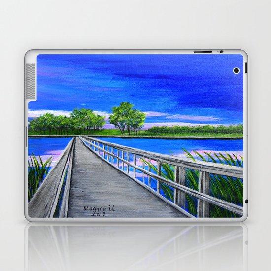 Walking bridge on the lake  Laptop & iPad Skin