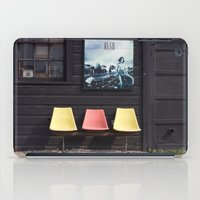posters iPad Cases featuring Seats outside Heritage Posters by RMK Photography