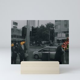 Street people collage series #1 Mini Art Print