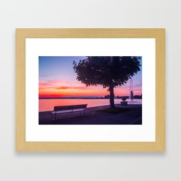 Sunset on Zugersee Framed Art Print