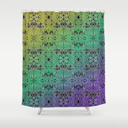 a frenetic evening, abstract doodle Shower Curtain