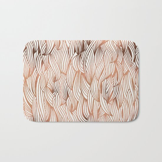 Rose Gold Waves Bath Mat