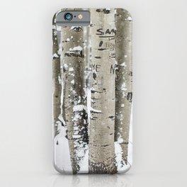 Winter Birch Forest iPhone Case