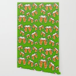 Beers forever-Green Wallpaper