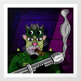 Kitty Commando Art Print