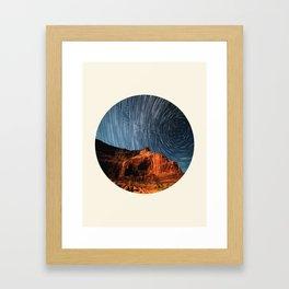 Long Exposure Of Spinning Stars Framed Art Print
