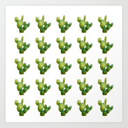 Golden Cactus i Tile Art Print