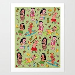 Hawaiian pattern  Art Print