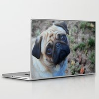 pug Laptop & iPad Skins featuring Pug by Whimsy Notions Designs