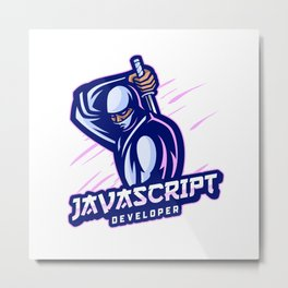 JavaScript Developer expert Metal Print
