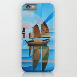 Soft Skies, Cerulean Seas and Cubist Junks iPhone Case