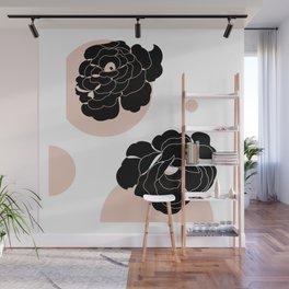 scandi vintage flower Wall Mural