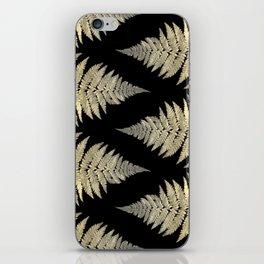 Golden Fern Art | Plant | Photography | Digital Art iPhone Skin