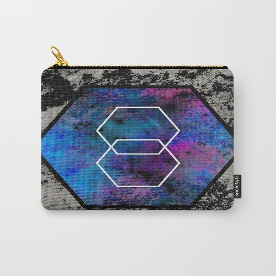 TEXtured HEX - Abstract, geometric, textured artwork Carry-All Pouch
