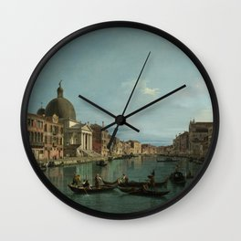 A View of the Grand Canal by Canaletto Wall Clock