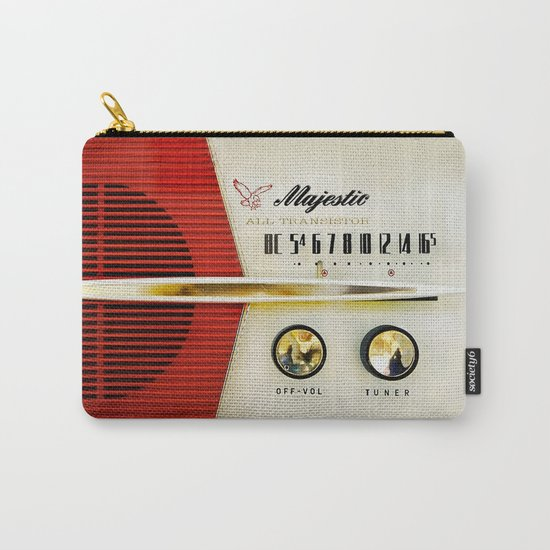 Classic Old Vintage Retro Majestic radio iPhone 4 4s 5 5c 6, ipad, pillow case, tshirt and mugs Carry-All Pouch
