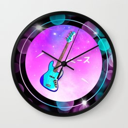 Aesthetic Bass Guitar Wall Clock